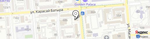 Жулдыз, FM 101.4 на карте Алматы