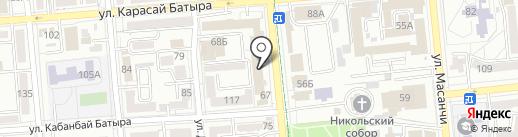 Нотариус Хакимова Г.Д. на карте Алматы