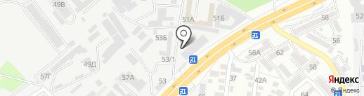 Рабочий на карте Алматы