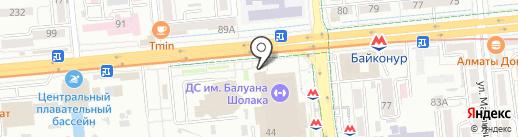 KFC на карте Алматы