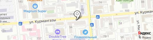 Гулливер на карте Алматы