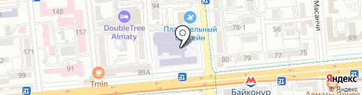 Тренажерный зал на карте Алматы