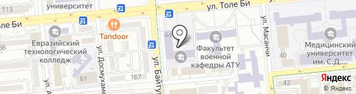 Алматинский технологический университет на карте Алматы