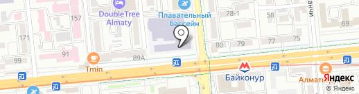 Казахская Академия Спорта и Туризма на карте Алматы