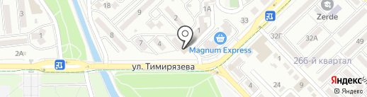 Аура на карте Алматы
