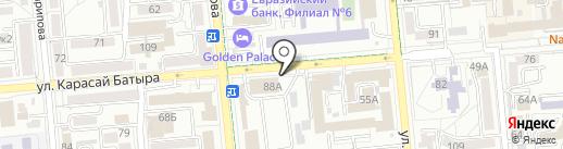 Ганга на карте Алматы