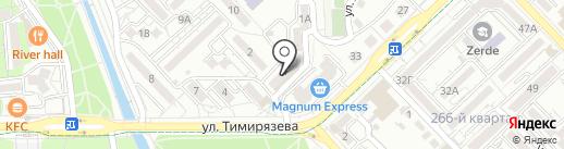 Нотариус Нуркебаев М.К. на карте Алматы