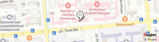 Городской кардиологический центр на карте Алматы