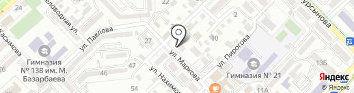 Нотариус Журтыбаева Г.Н. на карте Алматы