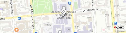 Алматинский государственный колледж транспорта и коммуникаций на карте Алматы