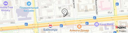Барбершоп FIRMA Алматы на карте Алматы