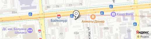 Машиностроитель на карте Алматы