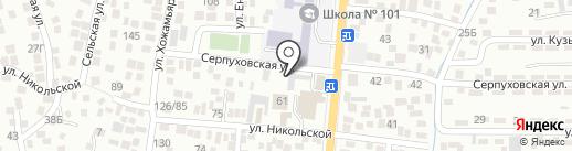 Банный двор на Никольской на карте Алматы