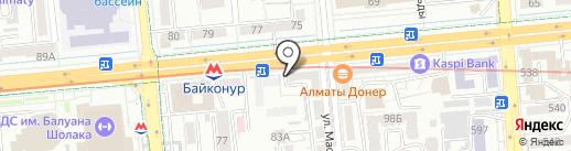 Нотариус Байбашева М.О. на карте Алматы