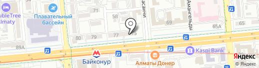 Поехали с нами на карте Алматы