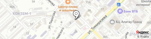 Нотариус Шабанбаева Ж.М. на карте Алматы