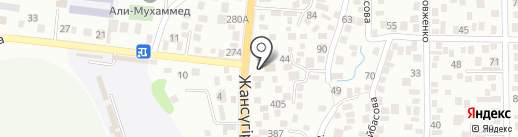 Анжур на карте Алматы