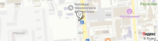 Ани на карте Алматы