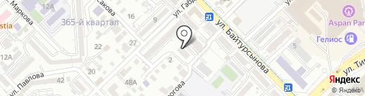 Кибитка на карте Алматы