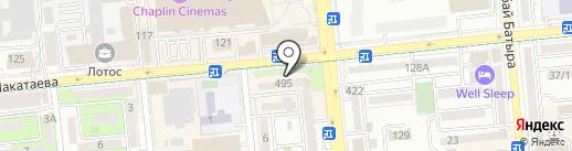 Жетысуский районный отдел занятости и социальных программ на карте Алматы