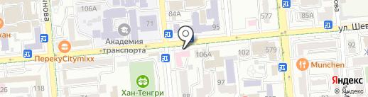 Союз международных автомобильных перевозчиков Республики Казахстан на карте Алматы