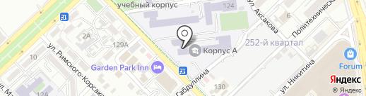 Алматинский университет энергетики и связи на карте Алматы
