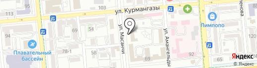 Поликлиника, Железнодорожный госпиталь медицины и катастроф на карте Алматы