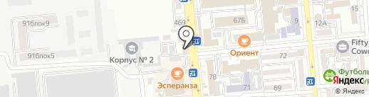 Анау-Мынау на карте Алматы
