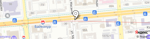 Киоск по продаже цветов на карте Алматы