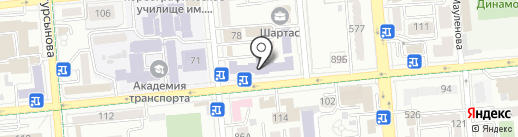 Алматинский государственный бизнес-колледж на карте Алматы