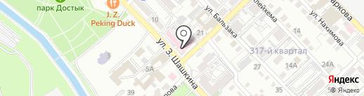 Городская поликлиника №12 на карте Алматы