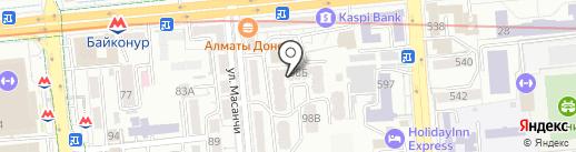 Азбука на карте Алматы