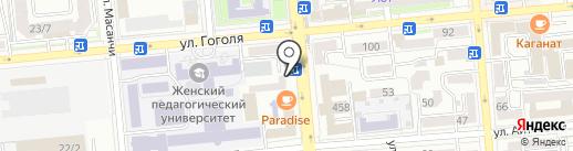 Аят на карте Алматы