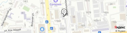 Акмарал Сауда на карте Алматы