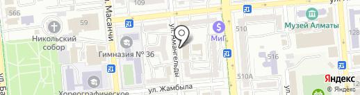 Казахстанское агентство ГИС и ДЗ, ТОО на карте Алматы