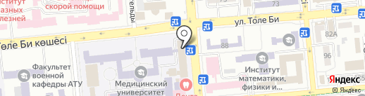 Казахский национальный медицинский университет им. С.Д. Асфендиярова на карте Алматы