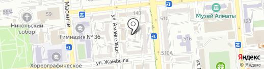 BTB World group, ТОО на карте Алматы
