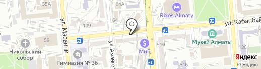 Арендная компания на карте Алматы