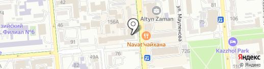 Департамент Министерства по делам государственной службы Республики Казахстан по г. Алматы на карте Алматы