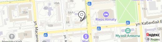 Таза Су на карте Алматы