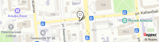 Амадо на карте Алматы