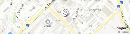 Пункт почтовой связи №12 на карте Алматы
