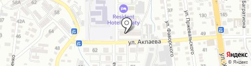Электрокабель на карте Алматы