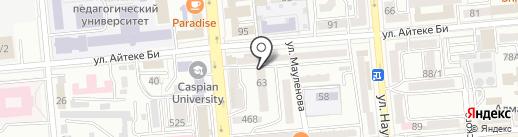 Акшам на карте Алматы