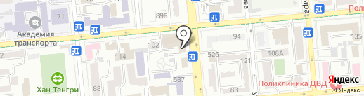 Банкомат, Банк ЦентрКредит на карте Алматы