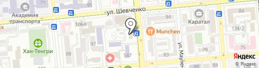 Алматинское отделенческое управление по защите прав потребителей на транспорте на карте Алматы