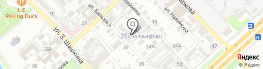 Шапагат-СК на карте Алматы