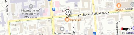 Нотариус Сланбекова Г.К. на карте Алматы