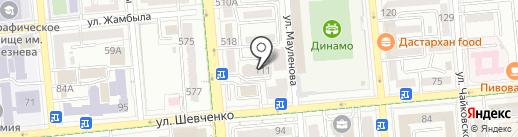 Гаухар Дент на карте Алматы