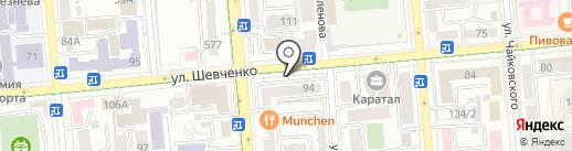 Таза на карте Алматы